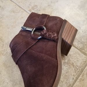 Lucky Brand Shoes - New LUCKY BRAND Leather Suede Brown Booties NWT